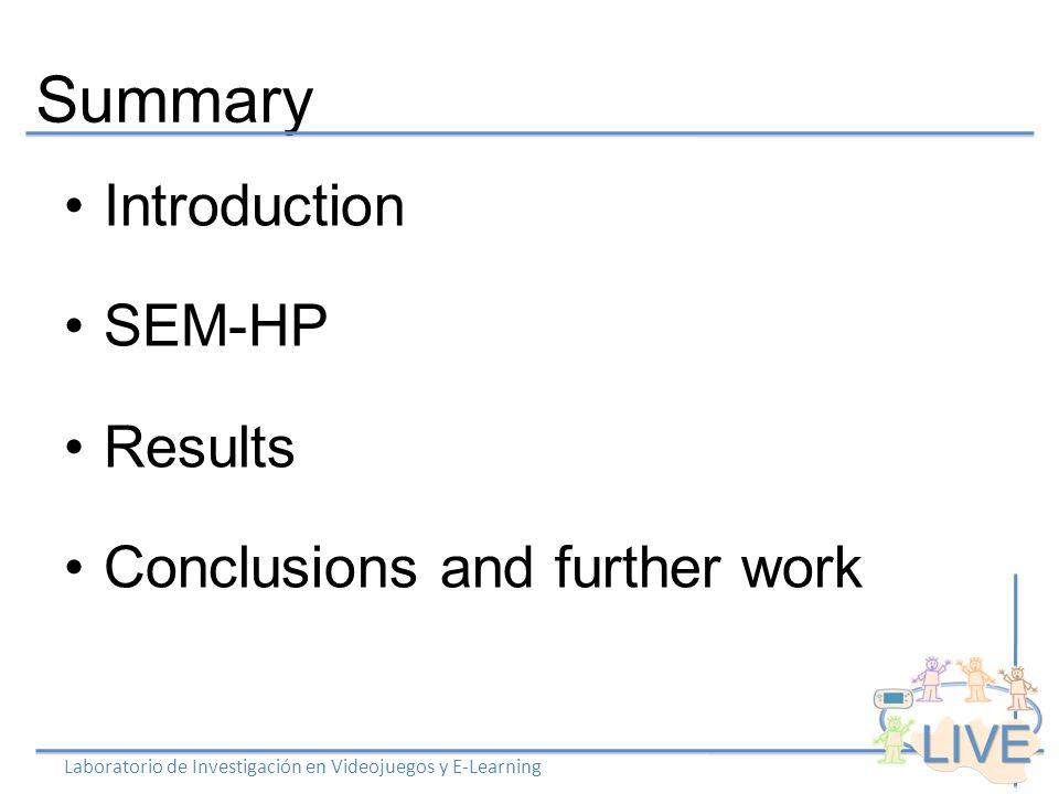 SEM-HP Laboratorio de Investigación en Videojuegos y E-Learning Action 1 Action 2.