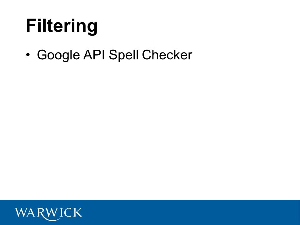 Filtering Google API Spell Checker