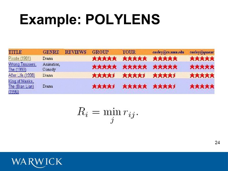 24 Example: POLYLENS
