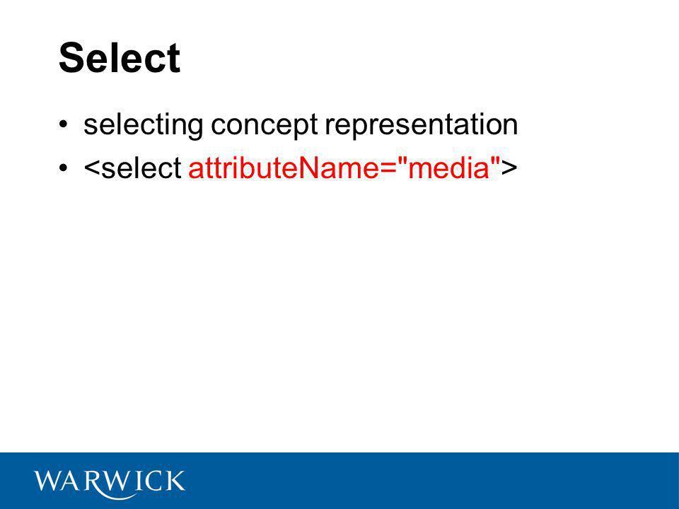 Select selecting concept representation
