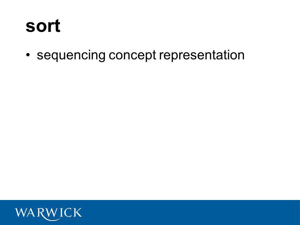 sort sequencing concept representation