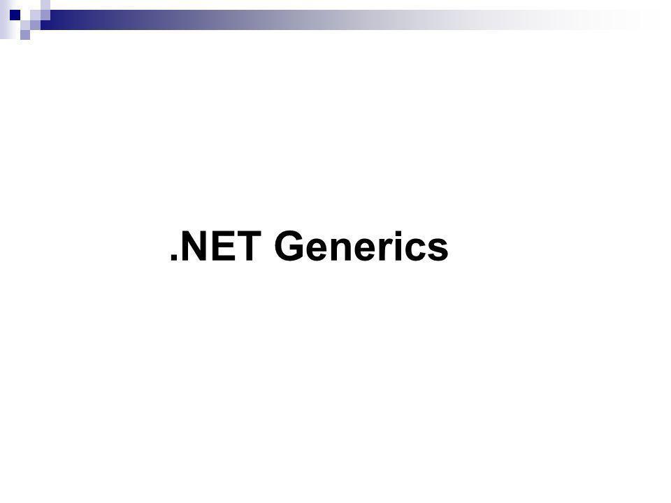 .NET Generics