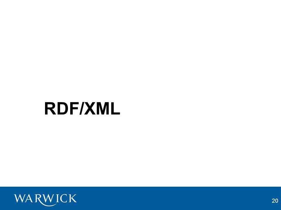 20 RDF/XML