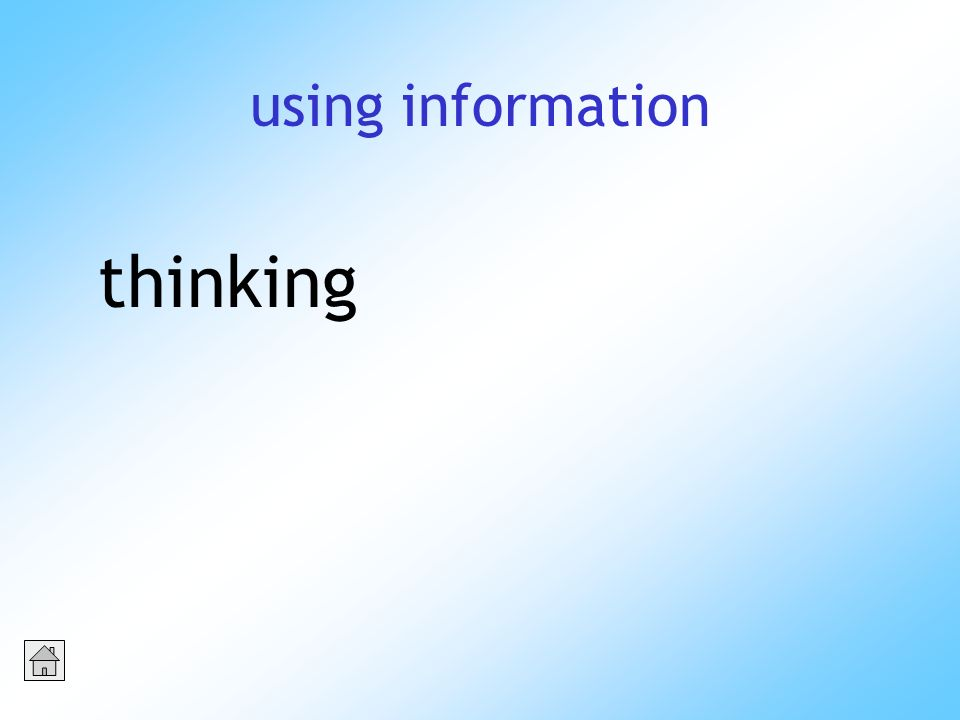 using information thinking