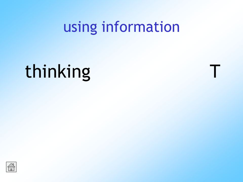 using information thinkingT