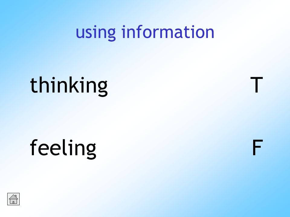using information thinkingT feelingF