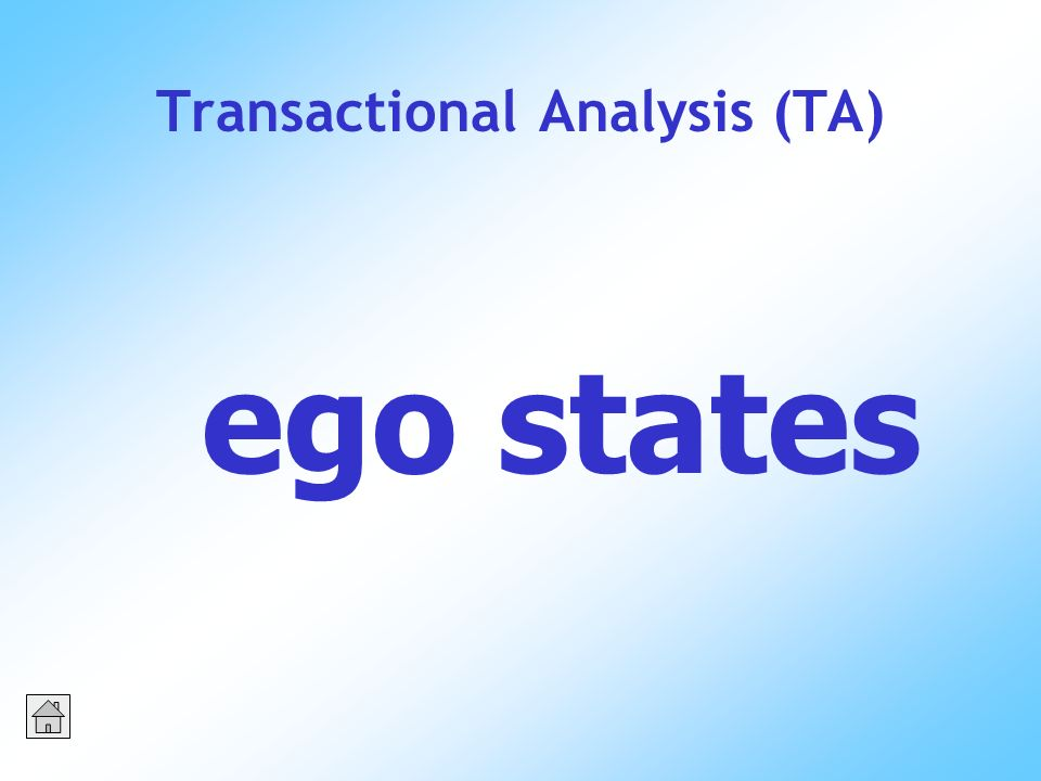 Transactional Analysis (TA) ego states