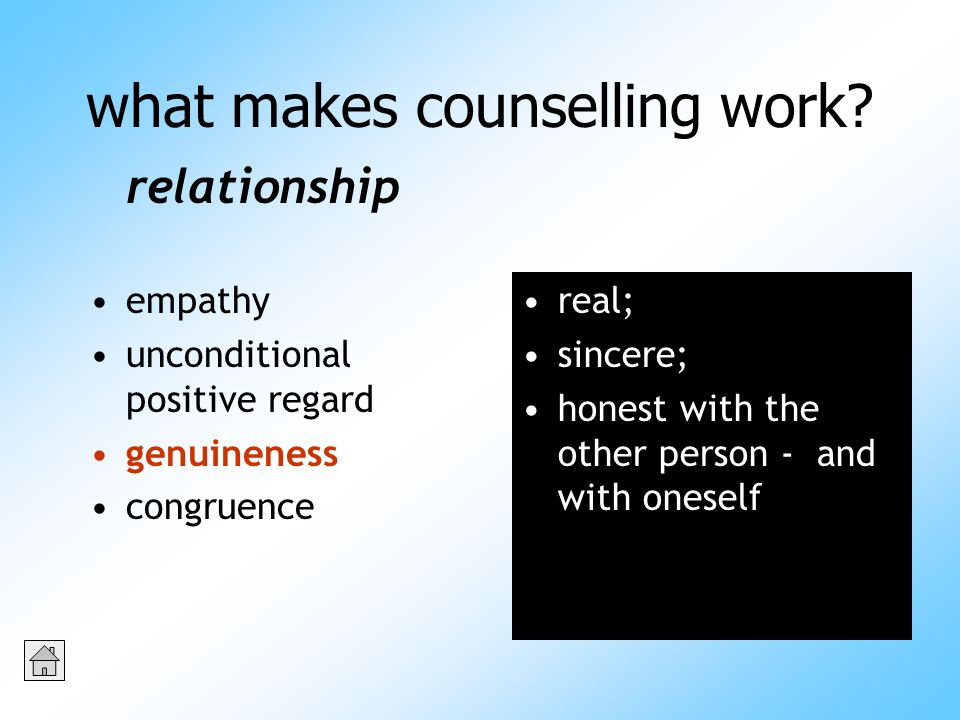 what makes counselling work.