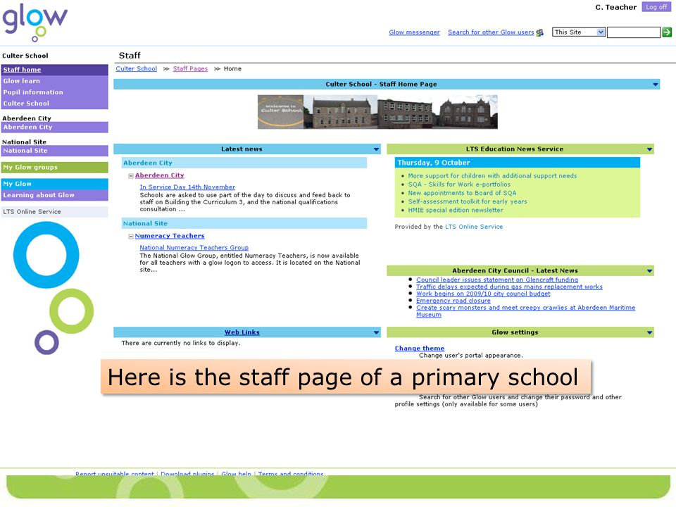 Here is the staff page of a primary school