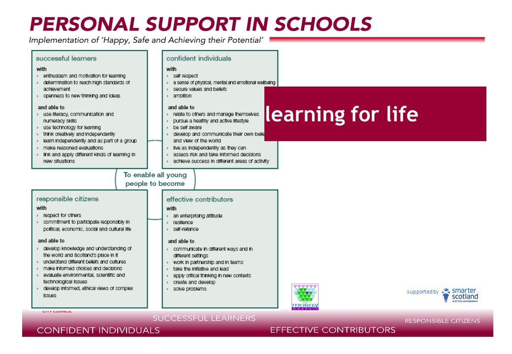 supported by learning for life