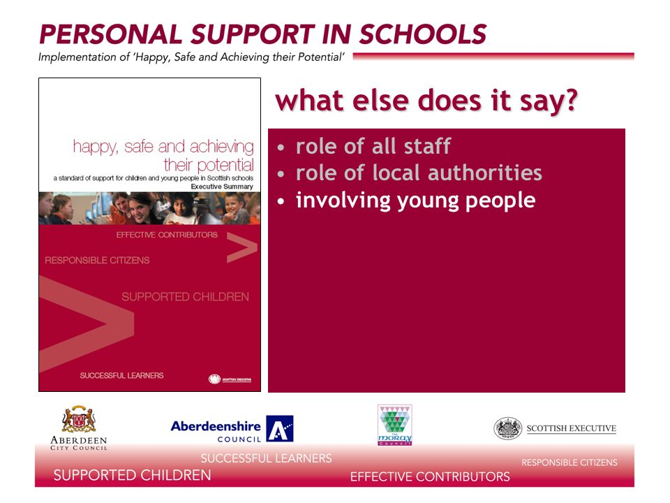 what else does it say? role of all staff role of local authorities involving young people
