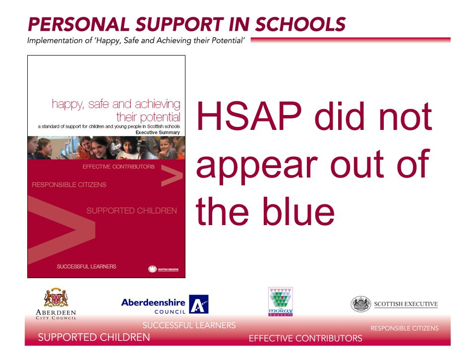 HSAP did not appear out of the blue