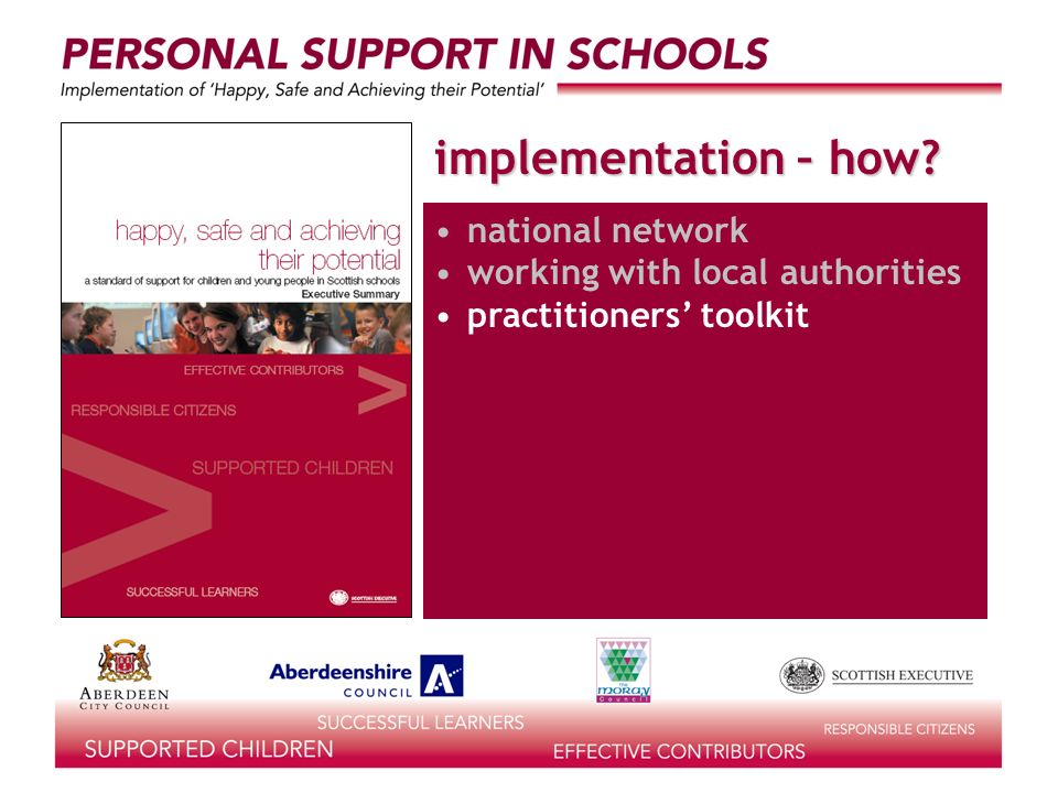 implementation – how? national network working with local authorities practitioners toolkit