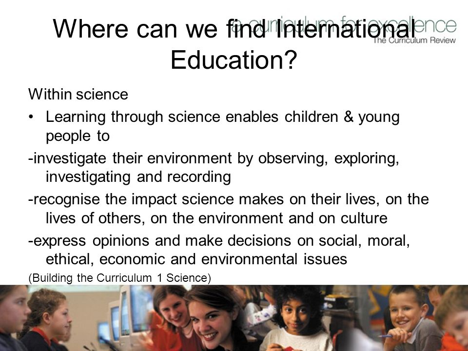 Where can we find International Education.