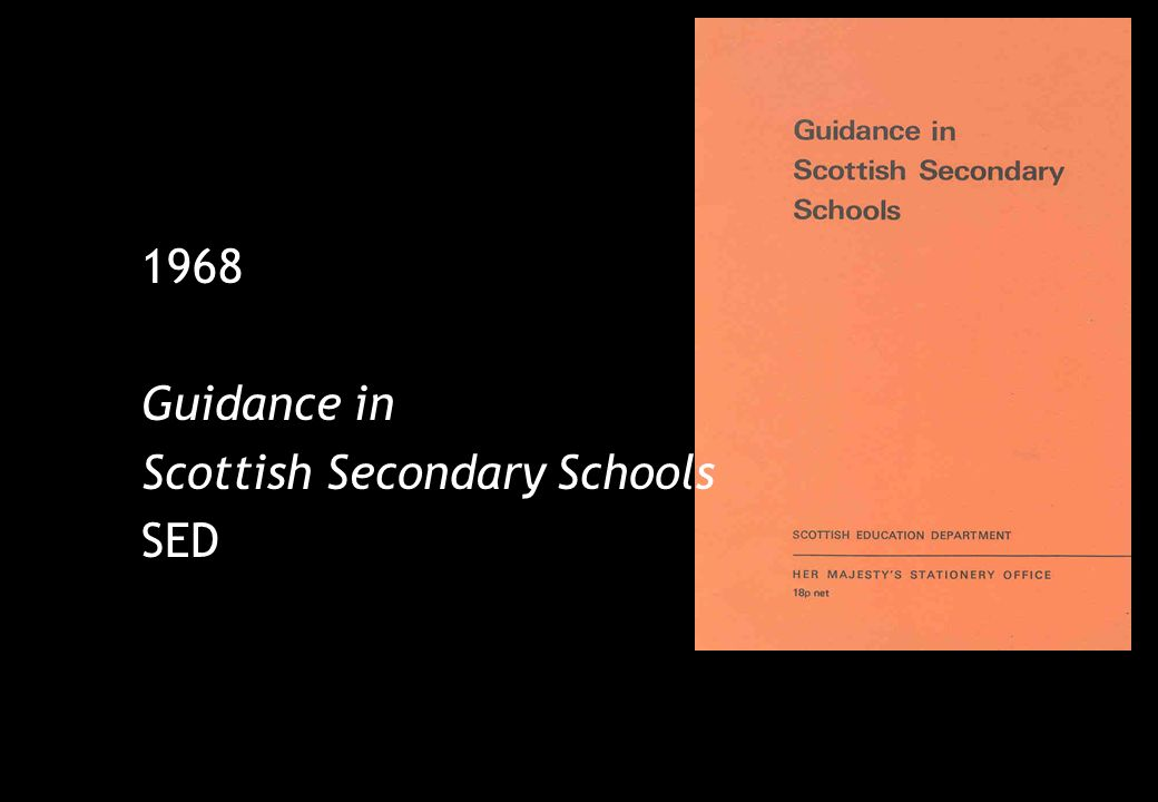 1968 Guidance in Scottish Secondary Schools SED