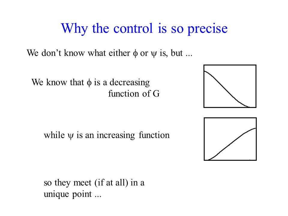 Why the control is so precise We dont know what either or is, but...