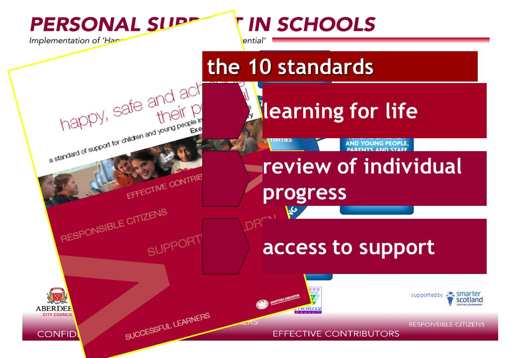 the 10 standards review of individual progress access to support learning for life