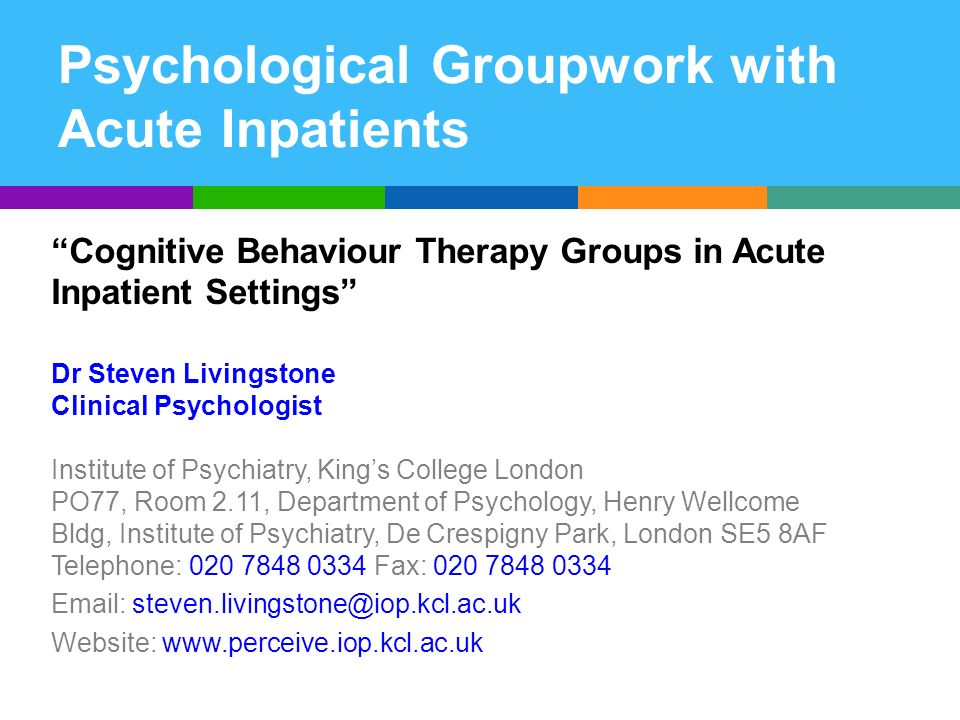 Why offer CBT groups to inpatients.