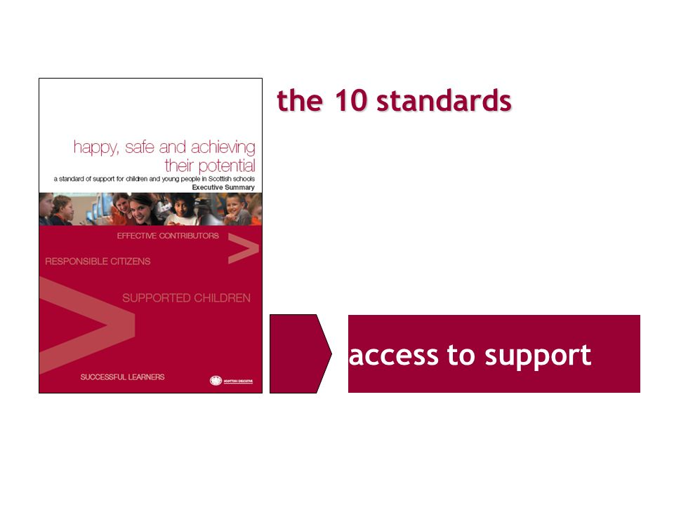 the 10 standards access to support
