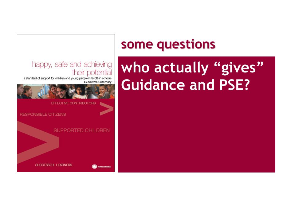 who actually gives Guidance and PSE