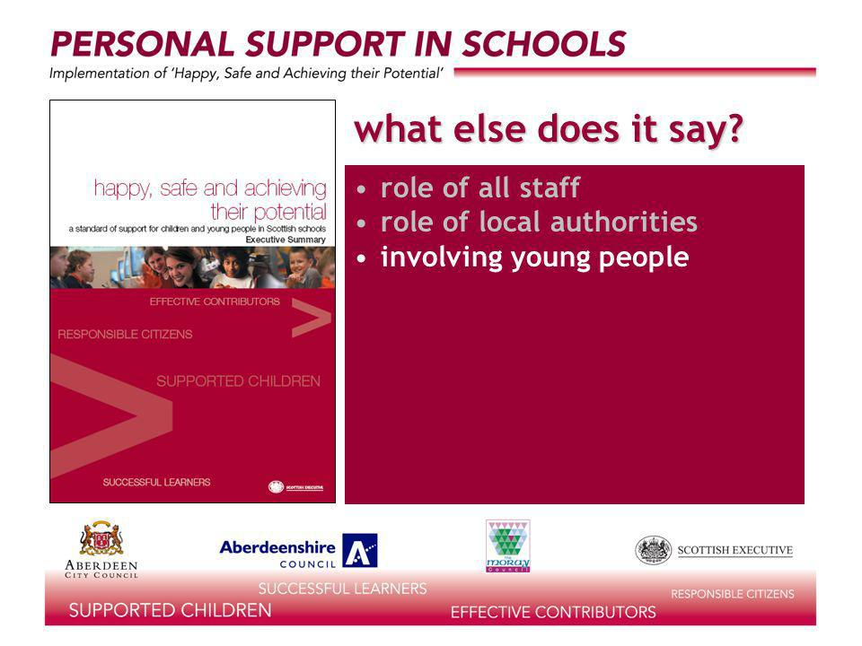 what else does it say role of all staff role of local authorities involving young people