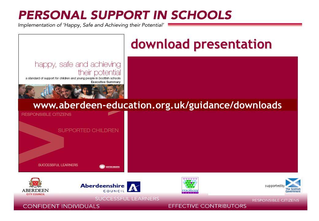 download presentation www.aberdeen-education.org.uk/guidance/downloads