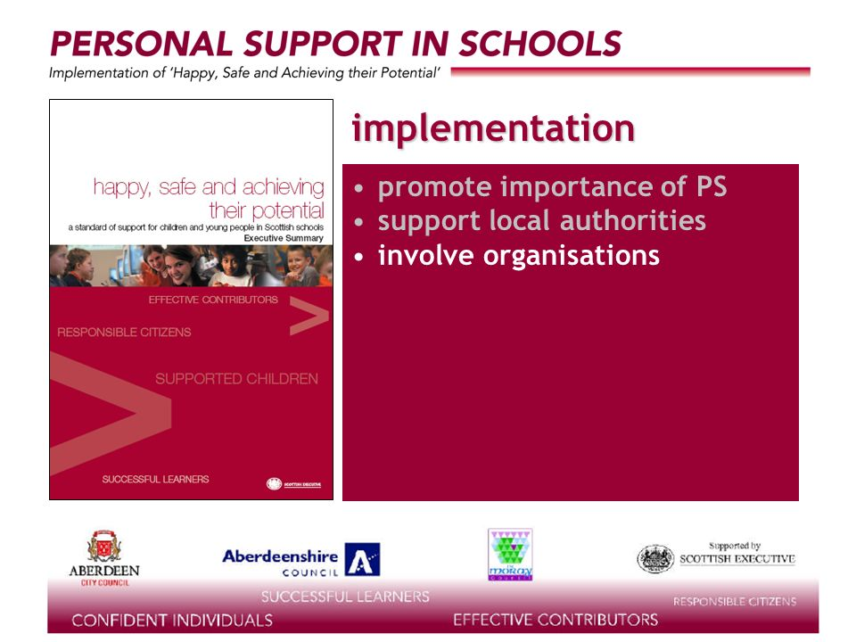 supported by the implementation promote importance of PS support local authorities involve organisations