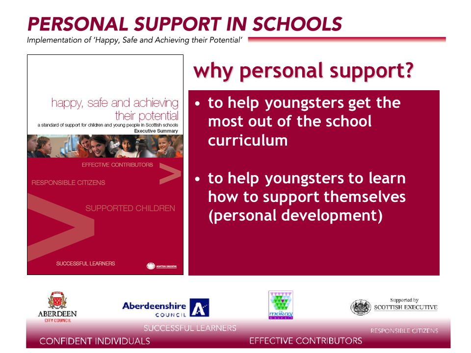 supported by the why personal support.