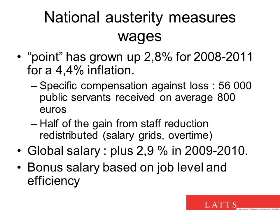 National austerity measures wages point has grown up 2,8% for for a 4,4% inflation.