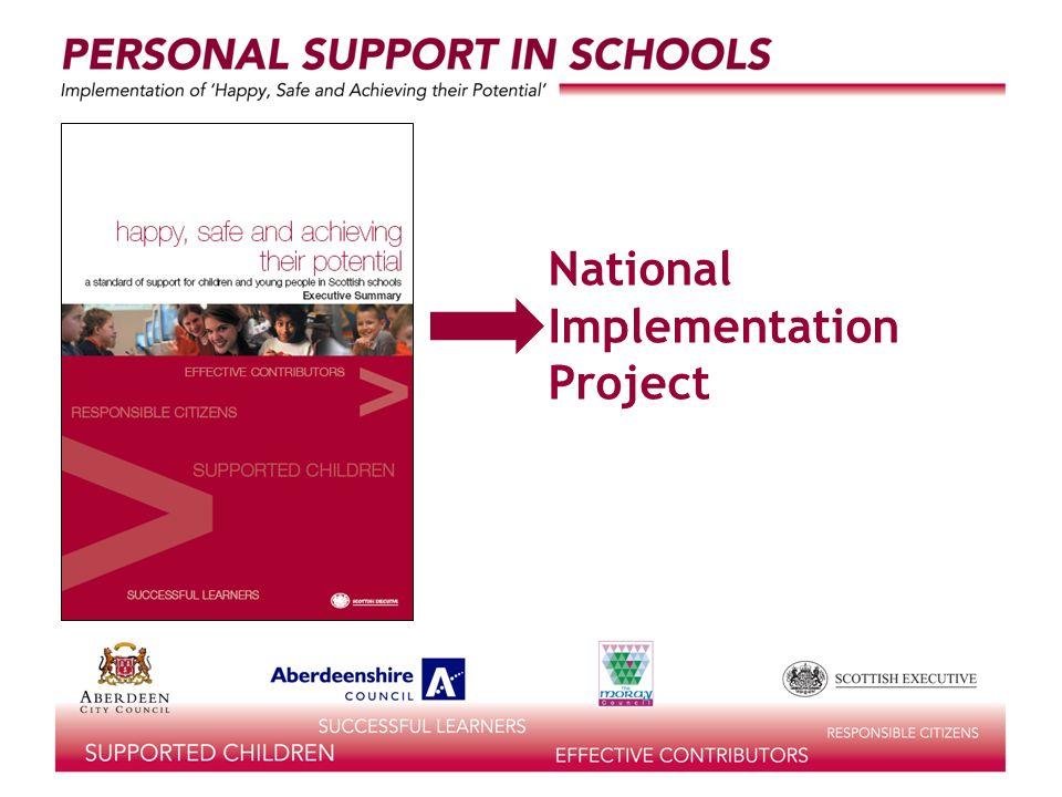 National Development Officers (Personal Support in Schools) Gill Scott John MacBean