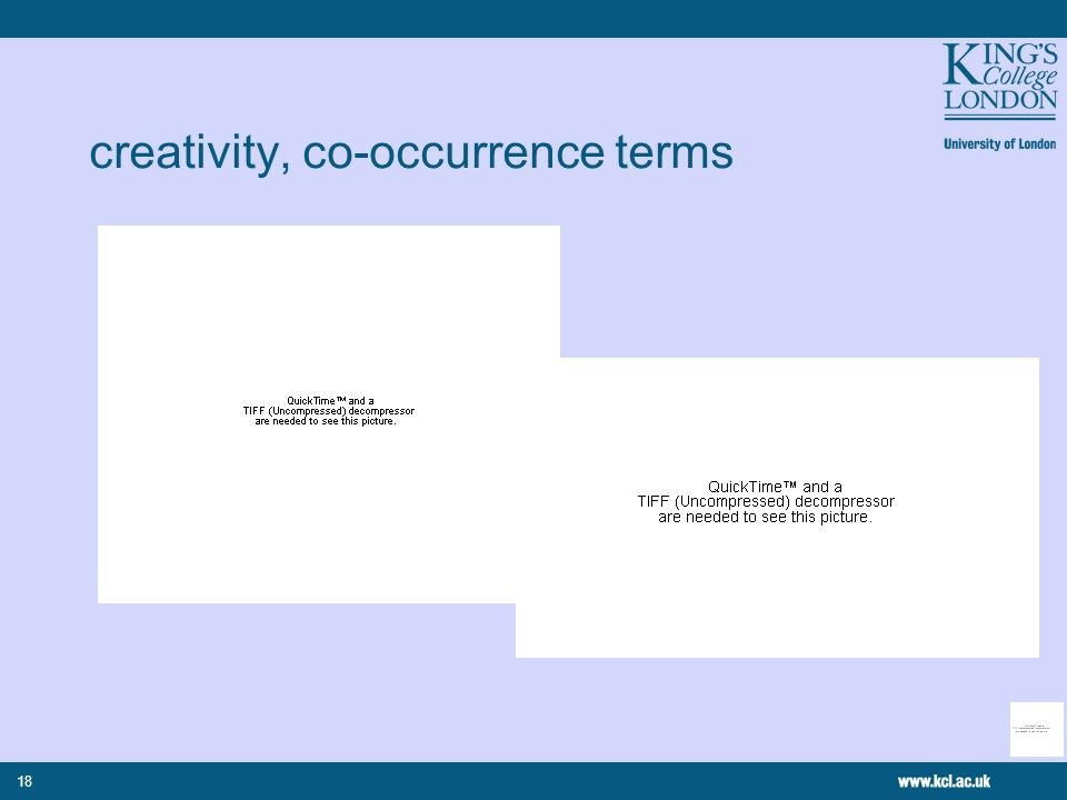 18 creativity, co-occurrence terms