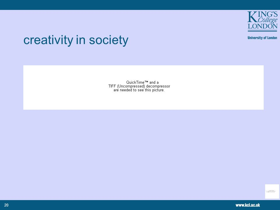 20 creativity in society