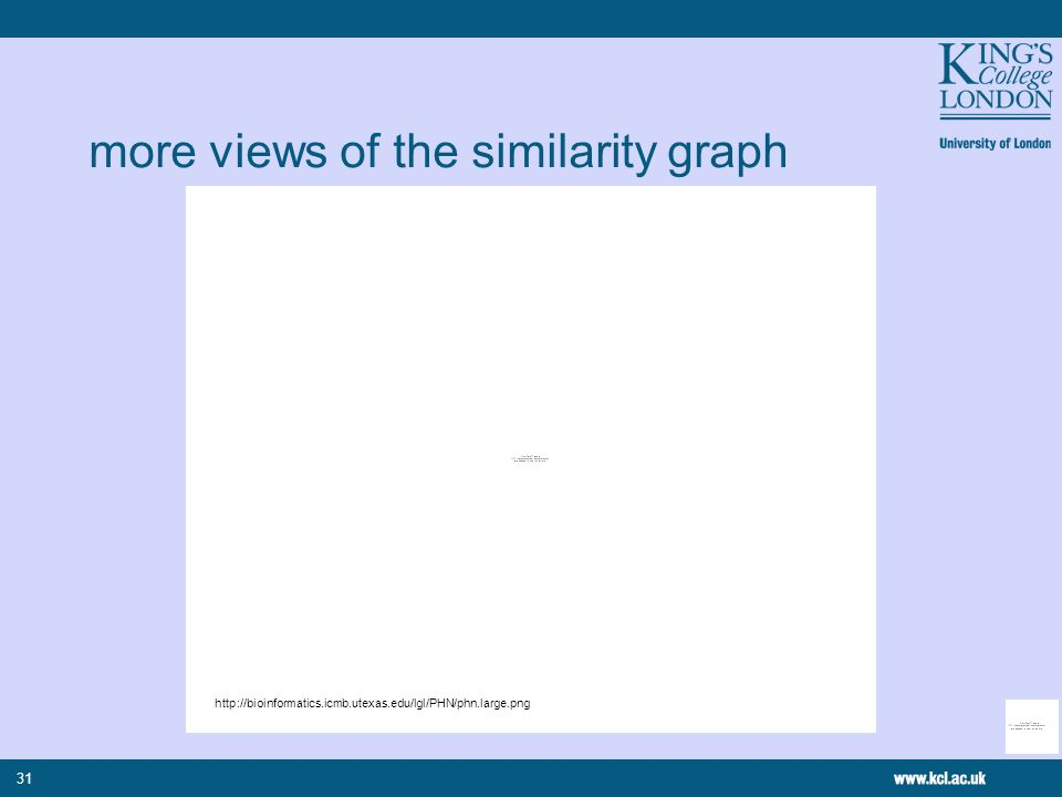 31 more views of the similarity graph http://bioinformatics.icmb.utexas.edu/lgl/PHN/phn.large.png
