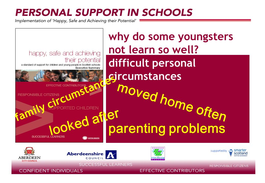 supported by difficult personal circumstances why do some youngsters not learn so well.