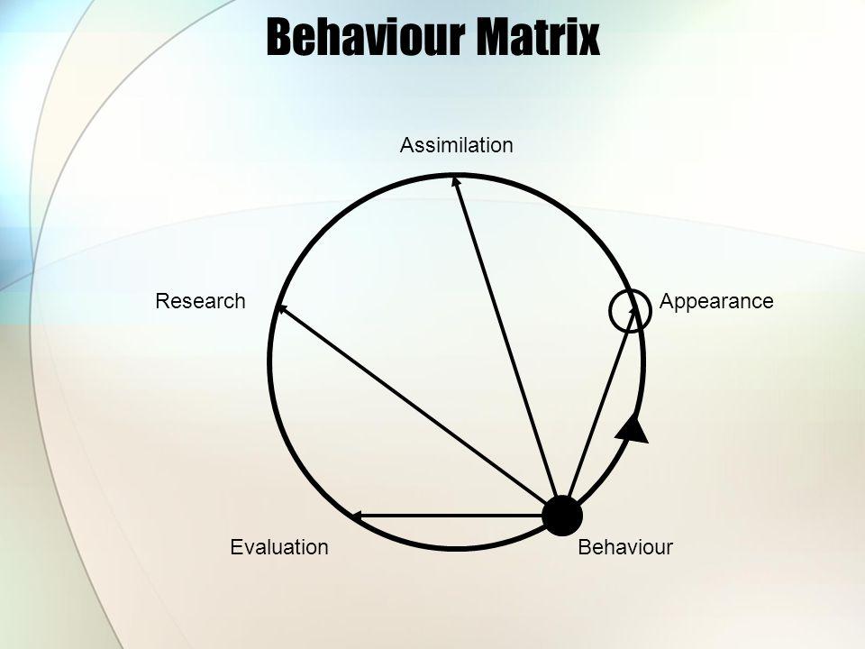 Behaviour Matrix Research EvaluationBehaviour Appearance Assimilation