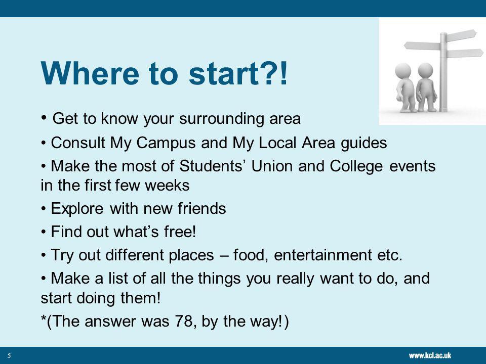 5 Where to start .