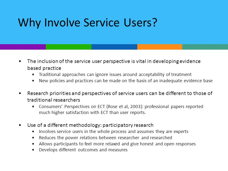 Why Involve Service Users.