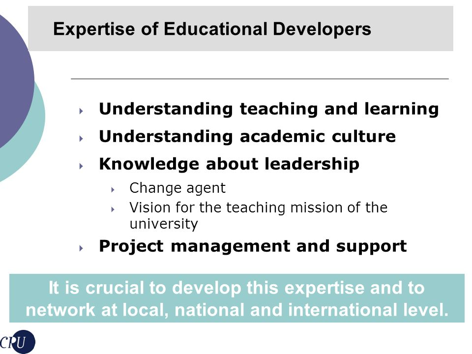 Provide evidence of the impact on learning and teaching capacity Expanding educational development scholarship Implementing external reviews of educational development units and programs Three challenges Evaluation of Educational Development Impact