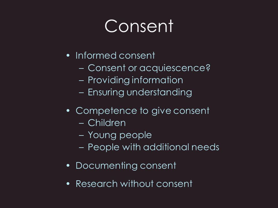 Consent Talking Point….Some research involves a retrospective study of medical records.
