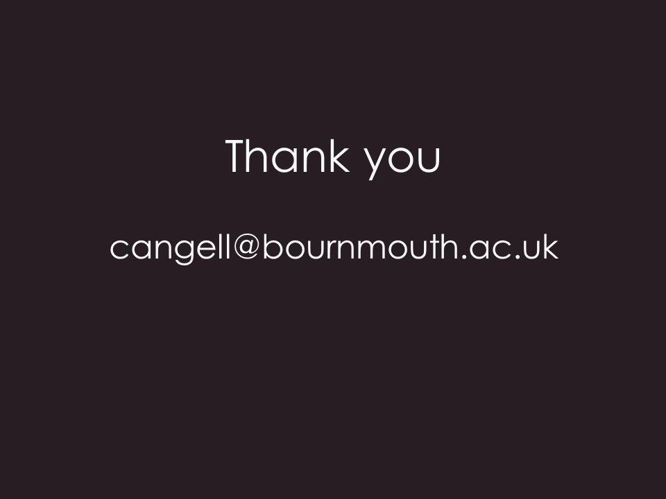 Thank you cangell@bournmouth.ac.uk
