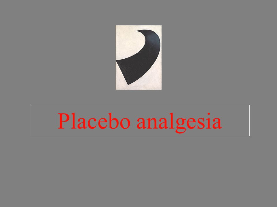 Placebo analgesia