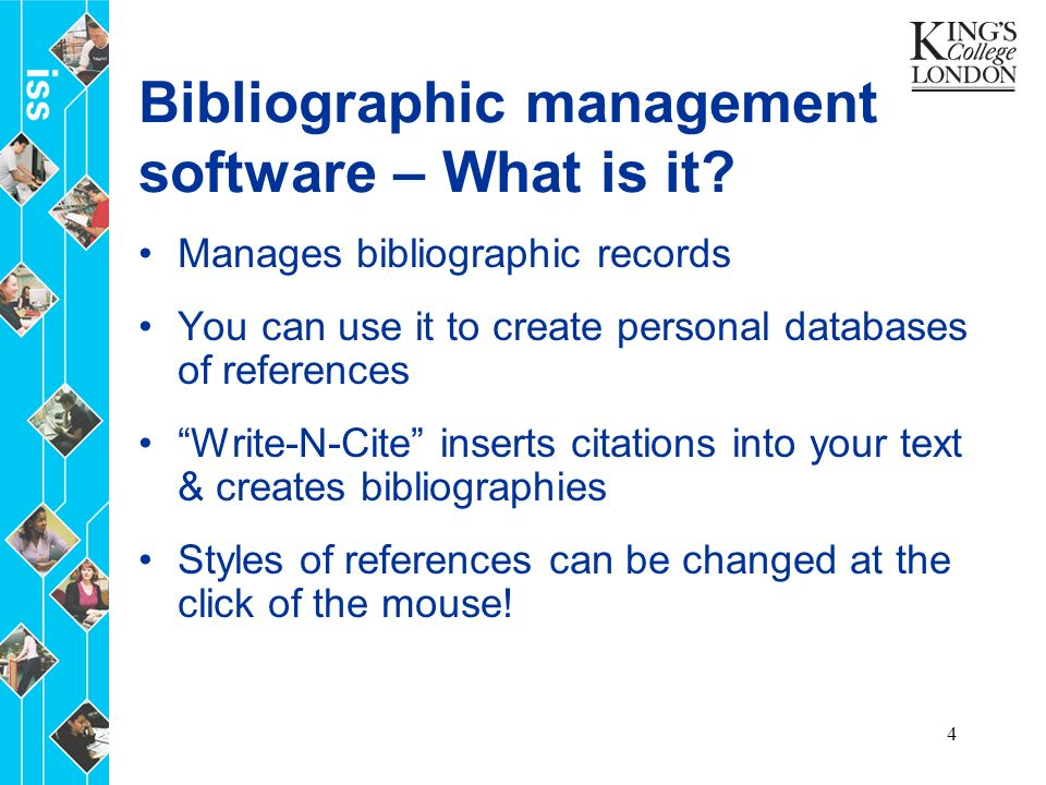 4 Bibliographic management software – What is it.