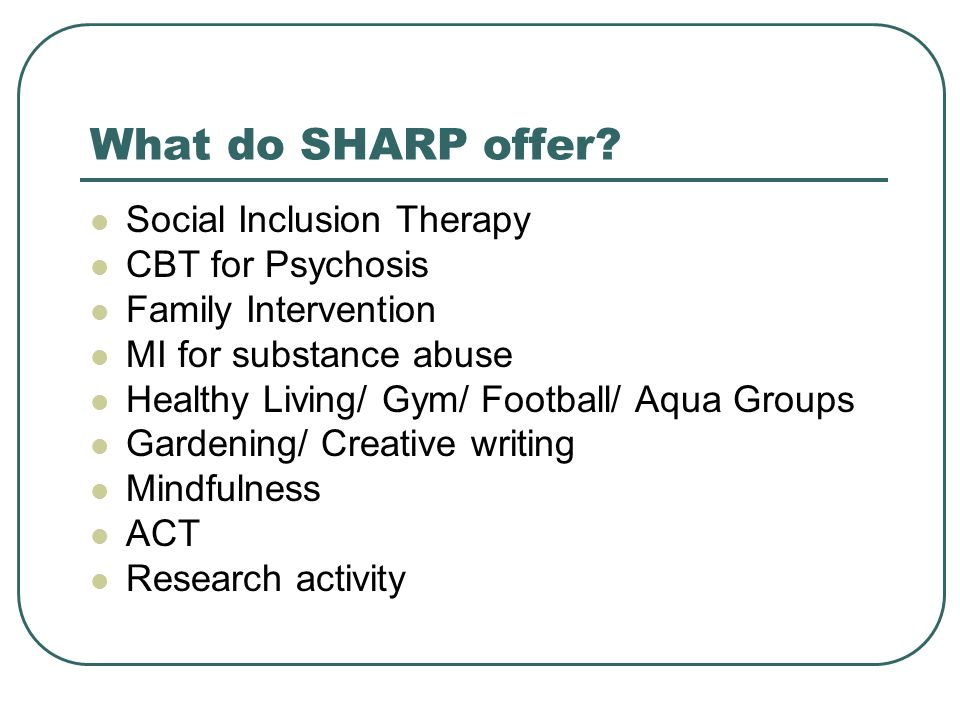 What do SHARP offer.