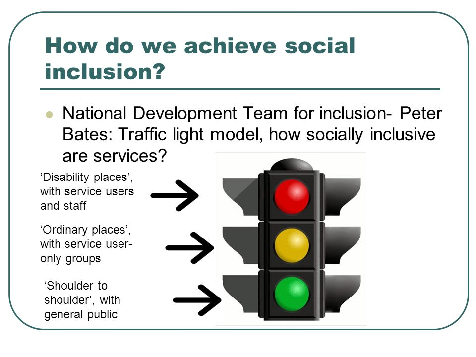 How do we achieve social inclusion.