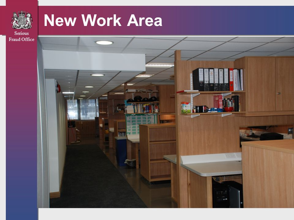 Serious Fraud Office New Work Area