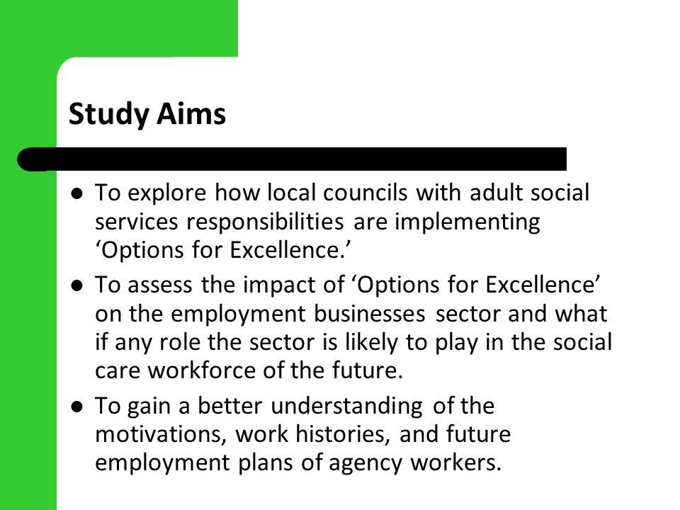 Methods Case studies of progress in three local council areas (rural, metropolitan, urban).