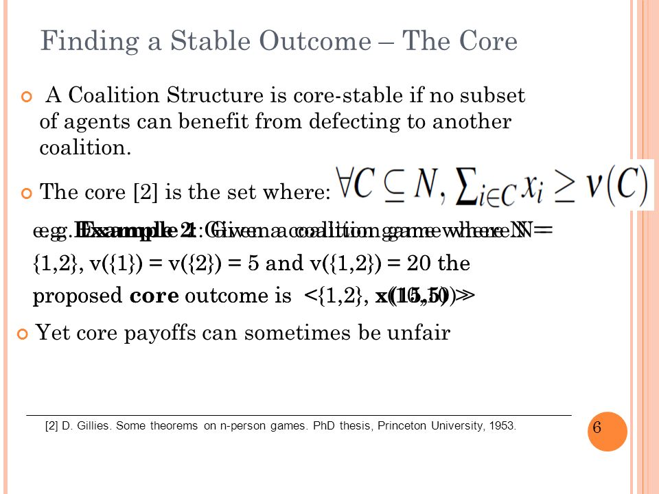 7 Epsilon-Core Solution [3] The epsilon value can be seen as the cost of deviating.