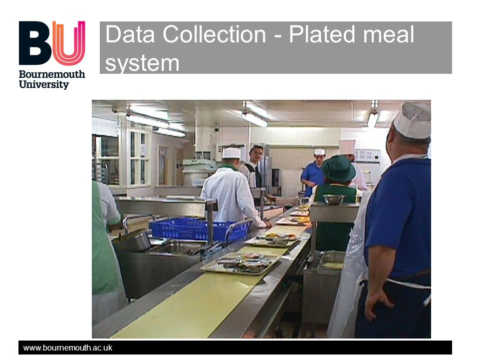 www.bournemouth.ac.uk Data Collection - Plated meal system