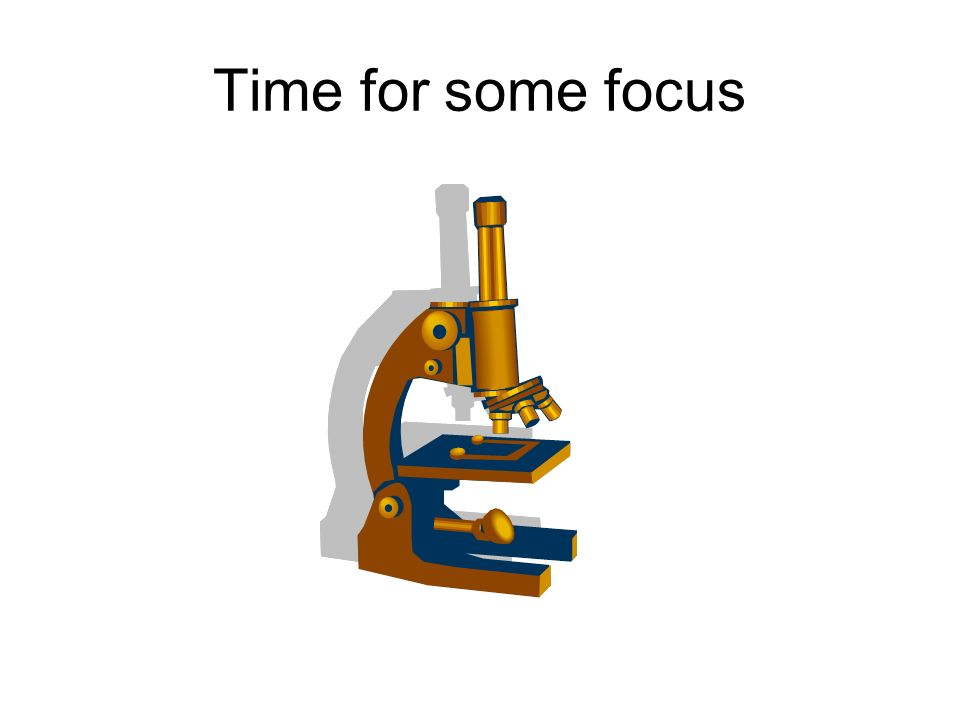 Time for some focus