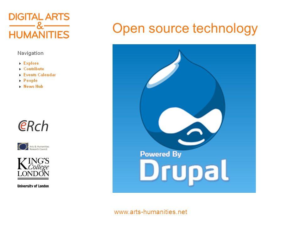 www.arts-humanities.net Open source technology